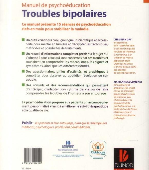 Manuel de psychoéducation – Troubles bipolaires